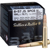 Патрон Sellier&Bellot калибр 8x57 JS FMJ 12.7, 50