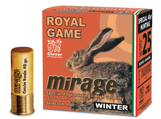 Патрон Mirage 12/70 T4 Royal Game Winter 40 г. дробь